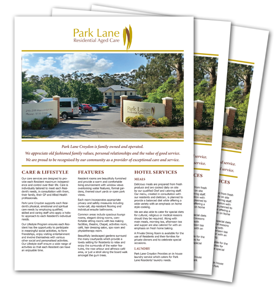 Park Lane Croydon Information Brochure